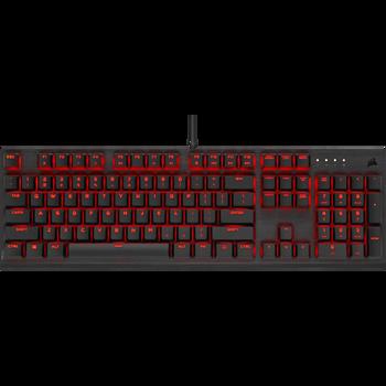 CORSAIR K60 PRO Mechanical Gaming Keyboard, Backlit Red LED, CHERRY VIOLA Keyswitches, Black