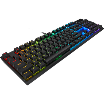 CORSAIR K60 RGB PRO LOW PROFILE Mechanical Gaming Keyboard, Backlit RGB LED, CHERRY MX Low Profile SPEED Keyswitches, Black