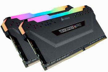CORSAIR VENGEANCE RGB PRO  DDR4, 3200MHz 64GB 2x32GB DIMM, Unbuffered, 16-20-20-38, XMP 2.0, Black Heatspreader, RGB LED, 1.35V