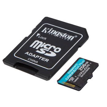 256GB microSDXC Canvas Go Plus 170R A2 U3 V30 Card + ADP