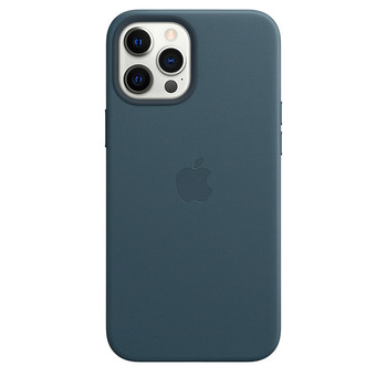Apple iPhone 12 Pro Max Leather Case with MagSafe - Baltic Blue