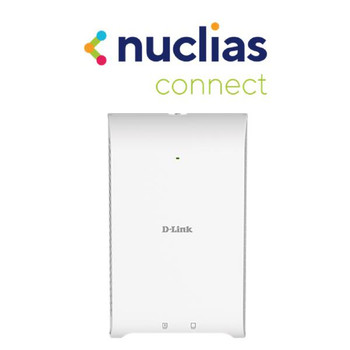 D-Link Wireless AC1200 Wave 2 Concurrent Dual Band Wall-Plate Access Point with PoE passthrough