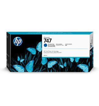 HP 747 300-ml Chromatic Blue DesignJet Ink Cartridge