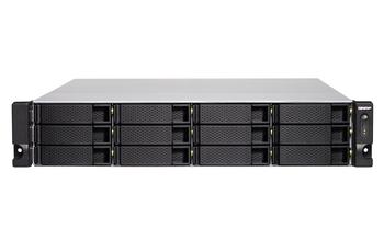 Qnap 12-bay Nas(no Disk), Xeon Qc 3.3ghz, 8gb, 10gbe Sfp+(2), Gbe(4), 2u, 3yr Wty