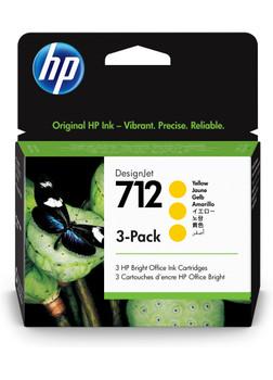HP 712 3-pack 29-ml Yellow DesignJet Ink Cartridge