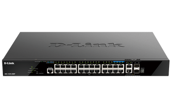 D-Link 20 ports GE PoE + 4 ports 2.5 GE PoE + 2 10GE ports + 2 SFP+ Smart Managed Switch