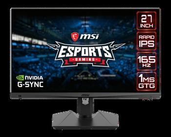 "MSI Flat/27"" QHD IPS/165hz/Quantum Dot eSports Gaming Monitor Tech"