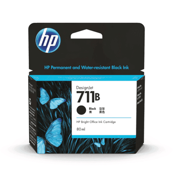 HP 711B 2-Pack 80-ml Black DesignJet Ink Cartridges
