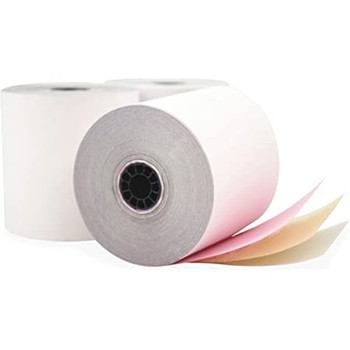Paper Rolls - Bond 3 Ply (white/pink/yellow)