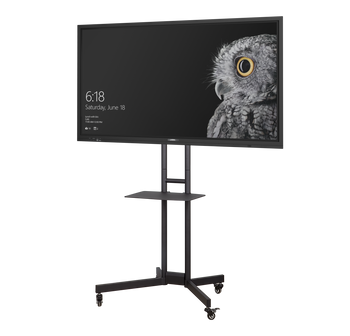 "Commbox Dash Mobile Stand, for 32"" to 65"" Displays (max 45.5kg), W/ Shelf, Camera Bkt, Loc"