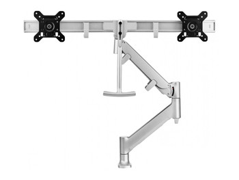 Atdec Dual Rail Desk Mount - Silver