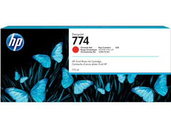 HP 774 775-ml Chromatic Red DesignJet Ink Cartridges 3-Pack