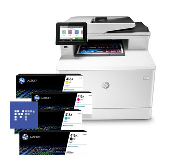 BUNDLE HP Color LaserJet Pro MFP M479dw 28ppm A4 Wireless Colour Multifunction Printer + 416A Toners