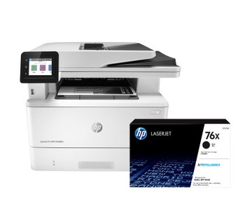 BUNDLE HP LaserJet Pro MFP M428fdn 38ppm A4 Mono Multifunction Printer + 76X High Yield Black Toner