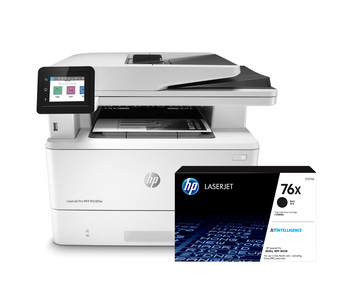 BUNDLE HP LaserJet Pro MFP M428fdw 38ppm A4 Wireless Mono Multifunction Printer + 76X High Yield Black Toner