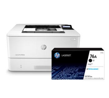BUNDLE HP LaserJet Pro M404dn 38ppm A4 Mono Laser Printer + 76A Standard Black Toner