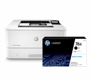 BUNDLE HP LaserJet Pro M404dn 38ppm A4 Mono Laser Printer + 76X High Yield Black Toner