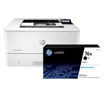 BUNDLE HP LaserJet Pro M404n 38ppm A4 Mono Laser Printer + 76A Standard Black Toner