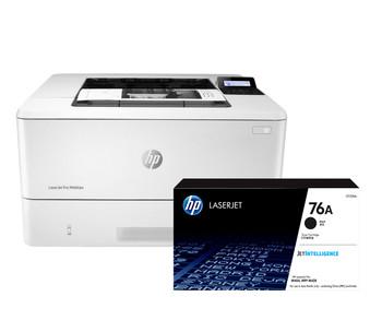BUNDLE HP LaserJet Pro M404dw 38ppm A4 Wireless Mono Laser Printer + 76A Standard Black Toner