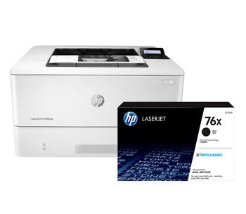 BUNDLE HP LaserJet Pro M404dw 38ppm A4 Wireless Mono Laser Printer + 76X High Yield Black Toner