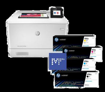 BUNDLE HP Color LaserJet Pro M454dw 27ppm A4 Wireless Colour Laser Printer + 416X Toners (W2040X, W2041X, W2042X, W2043X)