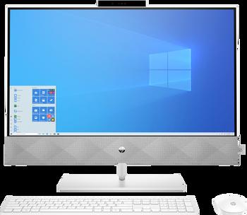 """HP Pavilion 27-d0000a Bundle PX i7-10700T 27"""" Touch 16GB 512GB SSD"""
