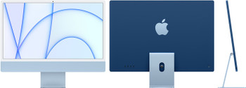 24-inch iMac with Retina 4.5K display: Apple M1 chip with 8-core CPU and 8-core GPU, 512GB - Blue