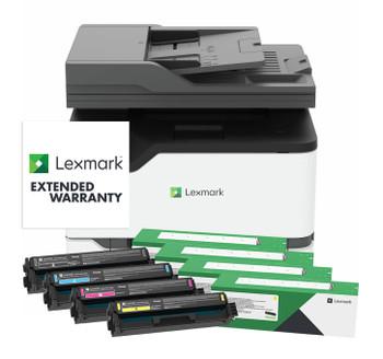 BUNDLE Lexmark CX431adw 24ppm A4 Wireless Colour Multifunction Laser Printer + Standard Yield Black & Colour Toners + 2-Years Total (1+1) Onsite Service (40N9575-BUN1)