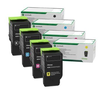 Lexmark C236 High Yield Toner Bundle (includes: C236HK0, C236HC0, C236HM0, C236HY0)