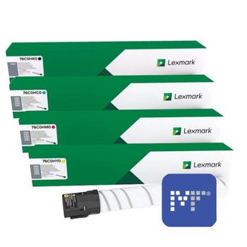 Lexmark 76C0H Toner Bundle (includes 76C0HK0, 76C0HC0, 76C0HM0, 76C0HY0)