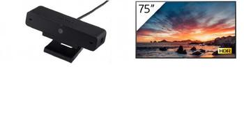 "Sony Bravia TV (75"") Standard 4K 3840x2160 w/ BONUS Sony USB Camera"