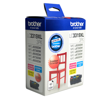 Brother LC3319XL CMY Colour Pk