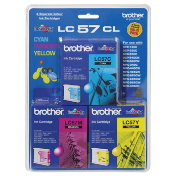 Brother LC57 CMY Colour Pack