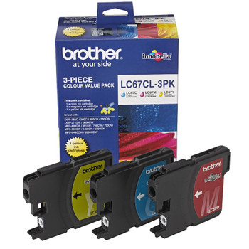 Brother LC67 CMY Colour Pack
