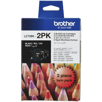 Brother LC73 Black Twin Pack