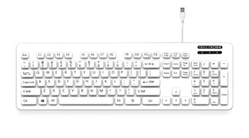 Man & Machine L Cool Umbrella-Style Washable Keyboard - White