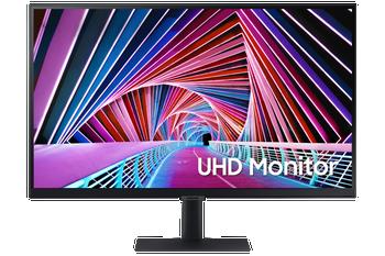 """Samsung (S7) 27"""" UHD IPS LED Monitor (16:9), 3840x2160, 5ms, Dp, Hdmi, Hdr10, Vesa, 3yr"""