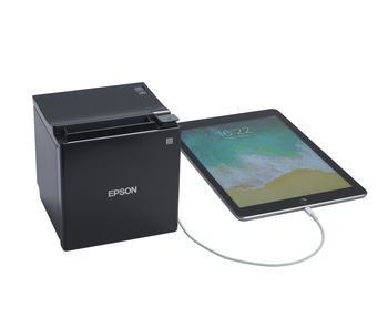 Epson TM-M30ii-H Ethernet Bluetooth with USB Charging Tablet Enabled POS Receipt Printer - Black