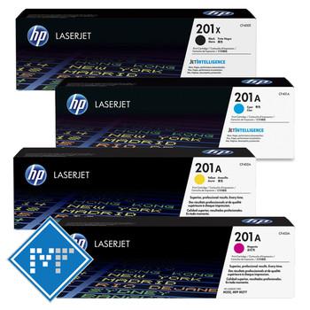 HP 201X-A toner bundle (includes: CF400X, CF401A, CF402A, CF403A)