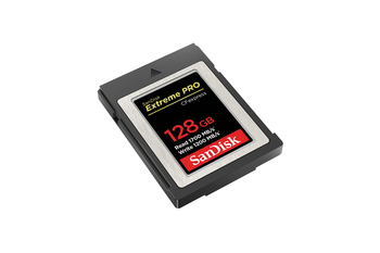 SanDisk Extreme PRO CFexpress Card Type B, SDCFE 128GB, 1700MB/s R, 1200MB/s W, 4x6, Limited Lifetime