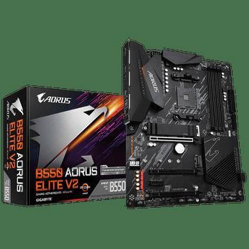 AMD B550 AORUS MB wTrue 12+2 Phases Digital VRM, Enlarged Surface Heatsinks, PCIe 4.0 x16 Slot, Dual PCIe 4.0/3.0 x4 M.2 wOne Thermal