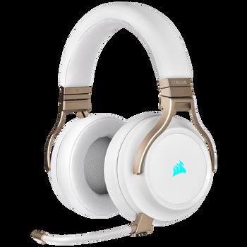CORSAIR VIRTUOSO RGB WIRELESS High-Fidelity Gaming Headset, Pearl