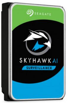 """SkyHawk Surveillance AI HDD 3.5"""" 8TB SATA 6 Gb/s, 16 AI streams, 7200RPM, 256MB CACHE, 3YRS warranty, NO ENCRYPTION"""