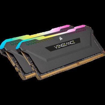 DDR4, 3600MHz 32GB 4x8GB DIMM, Unbuffered, 18-22-22-42, XMP 2.0, VENGEANCE RGB PRO SL Black Heatspreader, RGB LED, 1.35V, for Intel