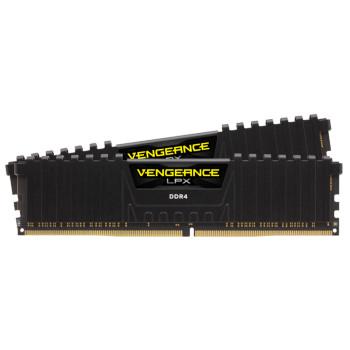 CORSAIR Vengeance LPX DDR4, 3200MHz 32GB 2 x 288 DIMM, Unbuffered, 16-20-20-38, Black Heat spreader, 1.35V, XMP 2.0