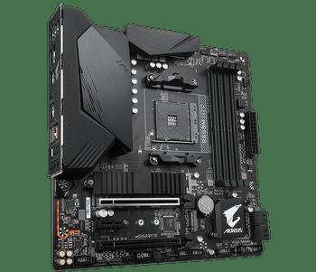 AMD B550 AORUS MB w 10+2 Phases Digital Twin Power Design,PCIe 4.0 x16 Slot, Dual PCIe 4.0 3.0 x4 M.2