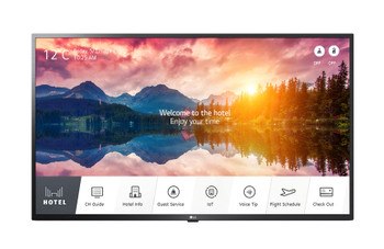 """LG Commercial Hotel (US665H) 43"""" UHD TV, 3840x2160, HDMI, LAN, Speaker, Pro:centric S/w, 3yr"""