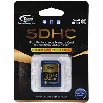 Team Group Memory Card SDHC 32GB, Class 10, 16MB/s Write*, Lifetime Warranty