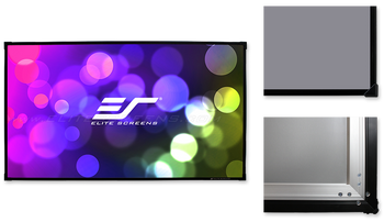 110 FIXED FRAME 169 PROJECTOR SCREEN EZFRAME ACOUSTIC 4K