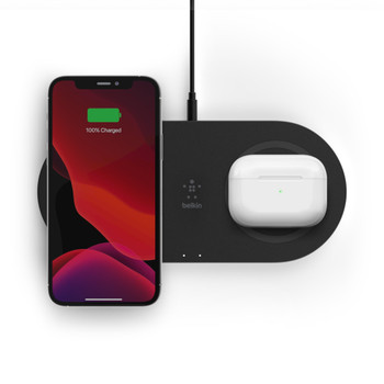 Belkin Dual 15w Wireless Charging Pad - Black